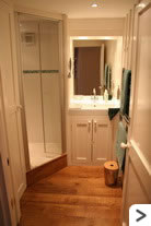 The Cottage utility room with spacious shower - a pleasure to use